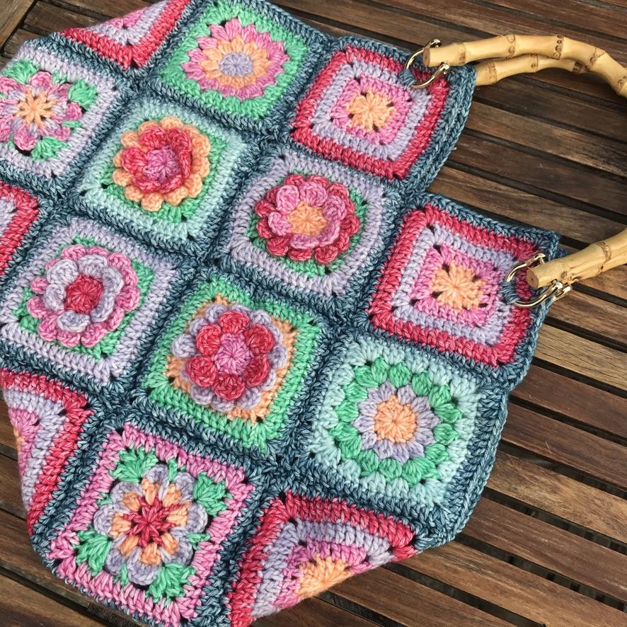 Flower Patch Bag Crochet Along