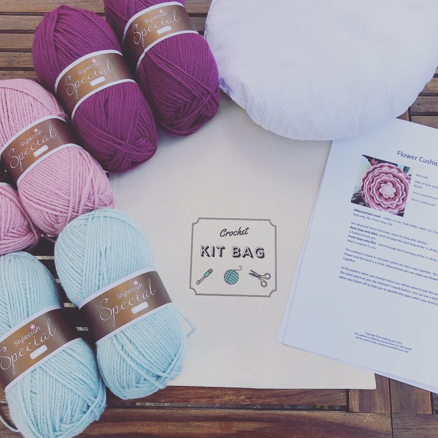 Flower cushion kit and online video tutorial