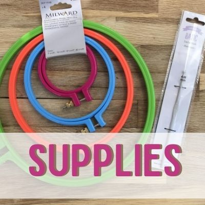 crochet and craft supplies